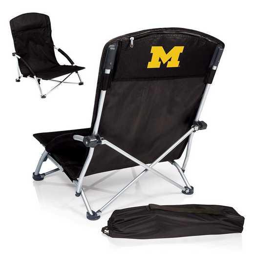 792-00-175-344-0: Michigan WolverinesTranquility Portable Beach ChairBLK