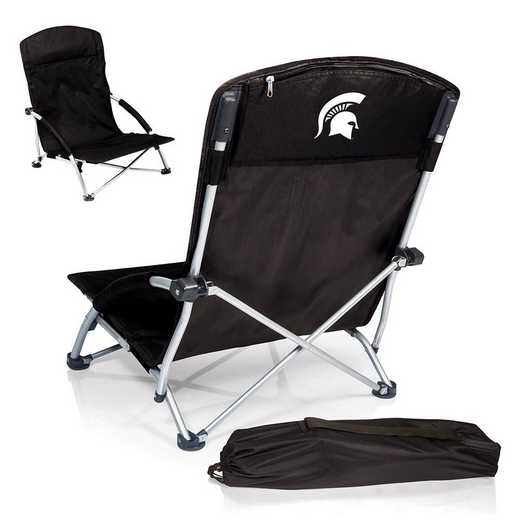 792-00-175-354-0: Michigan State SpartansTranquility Portable Beach ChairBLK