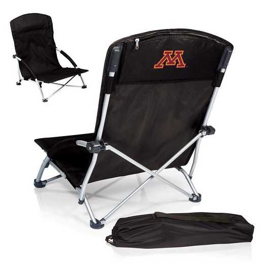 792-00-175-364-0: Minnesota Golden GophersTranquility Portable Beach ChairBLK