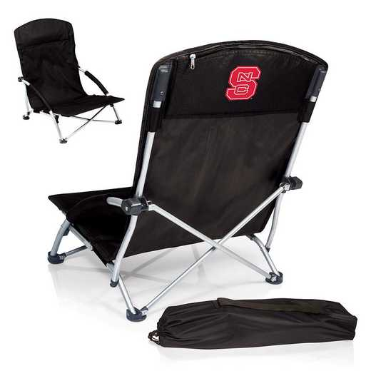 792-00-175-424-0: NC State WolfpackTranquility Portable Beach ChairBLK