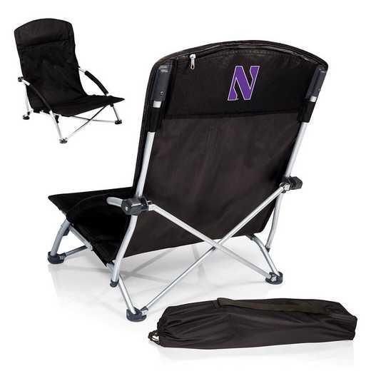 792-00-175-434-0: Northwestern WildcatsTranquility Portable Beach ChairBLK