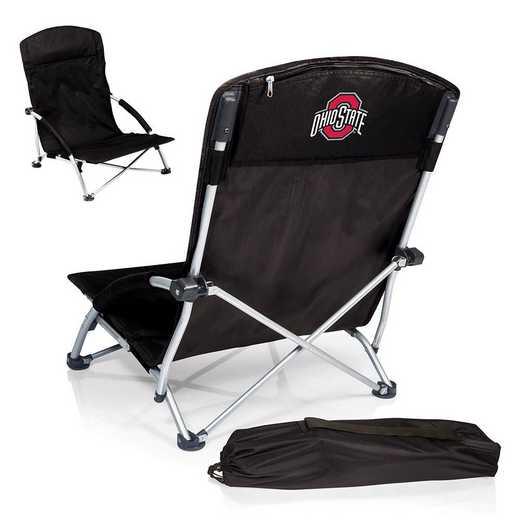 792-00-175-444-0: Ohio State BuckeyesTranquility Portable Beach ChairBLK