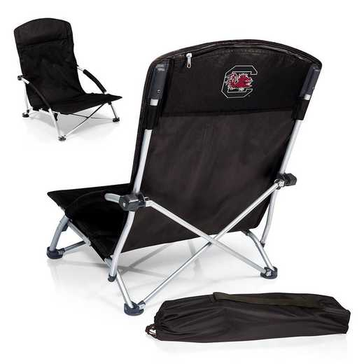 792-00-175-524-0: South Carolina GamecocksTranquility Portable Beach ChairBLK