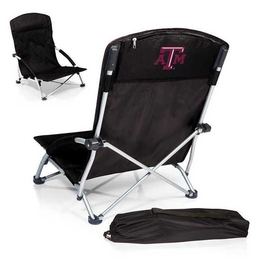 792-00-175-564-0: Texas A&M AggiesTranquility Portable Beach ChairBLK