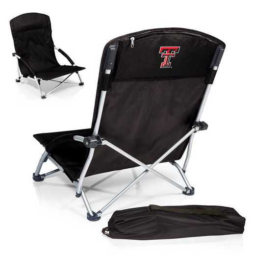 792-00-175-574-0: Texas Tech Red RaidersTranquility Portable Beach ChairBLK
