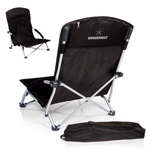 792-00-175-584-0: Vanderbilt CommodoresTranquility Portable Beach ChairBLK