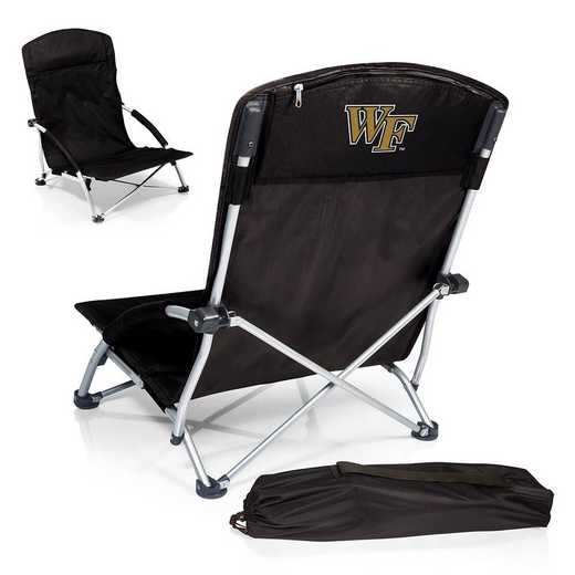792-00-175-614-0: Wake Forest Demon DeaconsTranquility Portable Beach ChairBLK