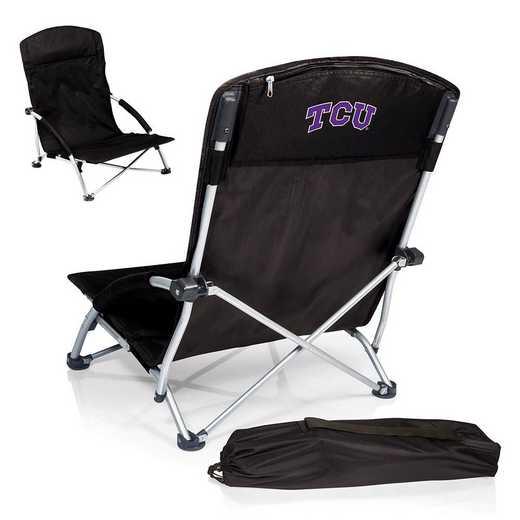 792-00-175-844-0: TCU Horned FrogsTranquility Portable Beach ChairBLK