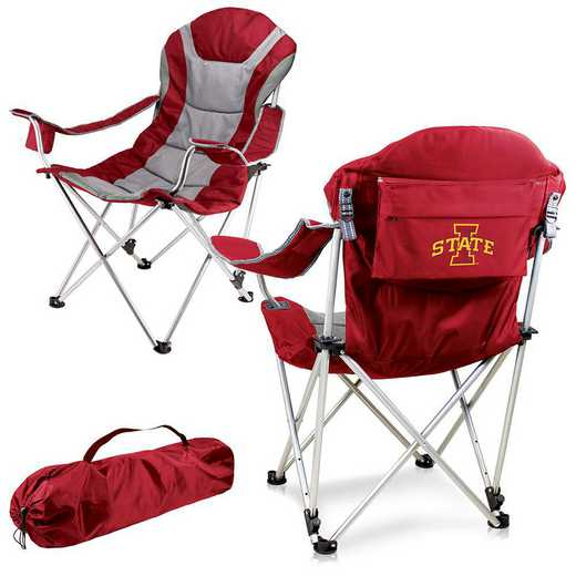 803-00-100-234-0: Iowa State Cyclones - Reclining Camp Chair (Red)