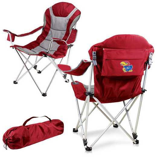 803-00-100-244-0: Kansas Jayhawks - Reclining Camp Chair (Red)