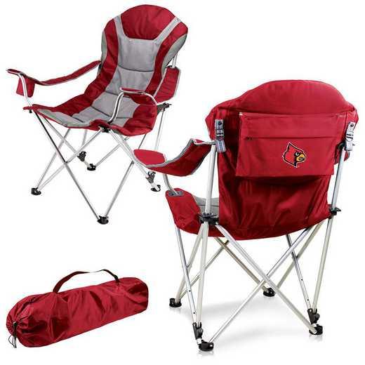 803-00-100-304-0: Louisville Cardinals - Reclining Camp Chair (Red)