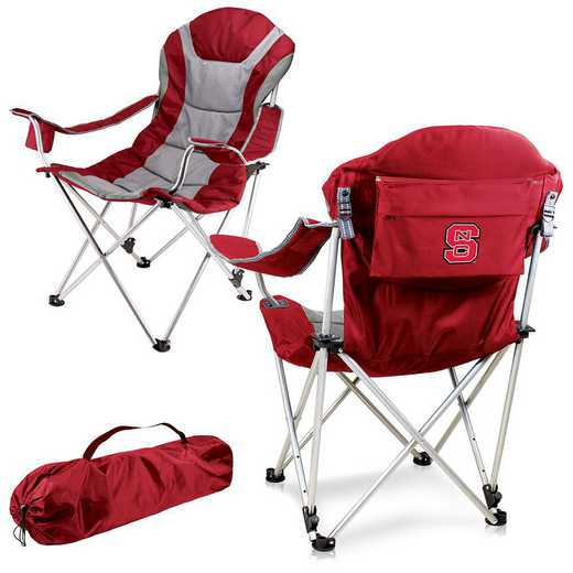 803-00-100-424-0: NC State Wolfpack - Reclining Camp Chair (Red)