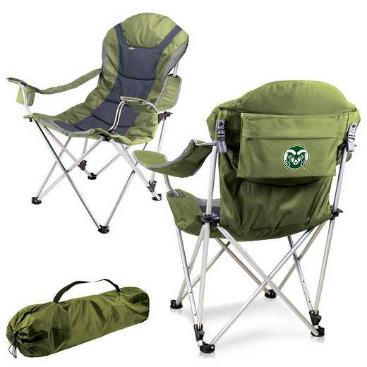 803-00-130-134-0: Colorado State Rams - Reclining Camp Chair (Sage)
