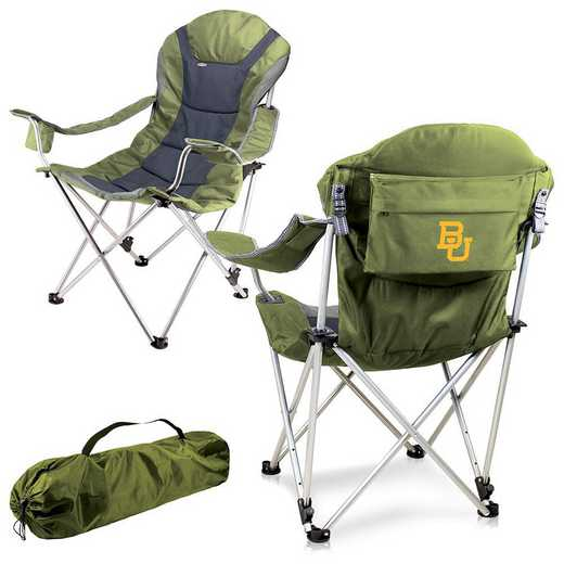 803-00-130-924-0: Baylor Bears - Reclining Camp Chair (Sage)