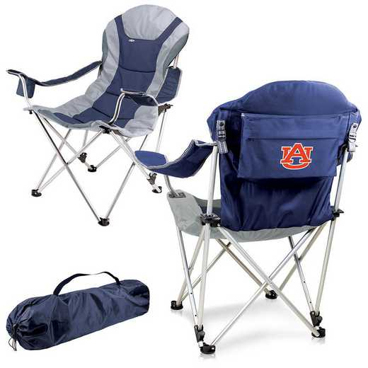 803-00-138-044-0: Auburn Tigers - Reclining Camp Chair (Navy)