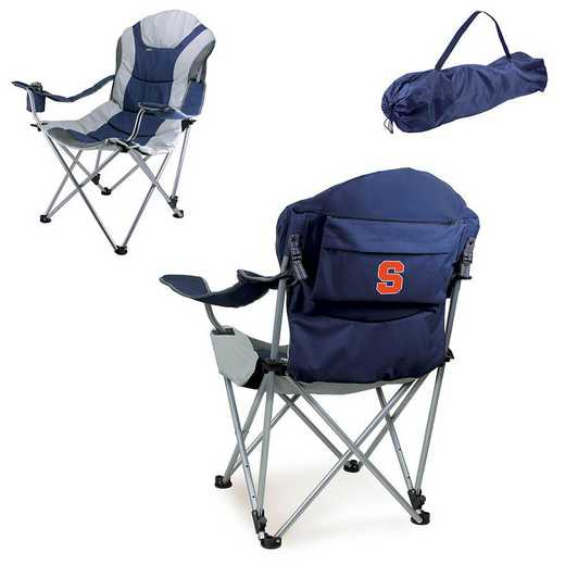 803-00-138-544-0: Syracuse Orange - Reclining Camp Chair (Navy)