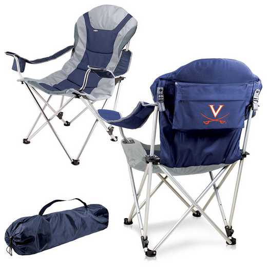 803-00-138-594-0: Virginia Cavaliers - Reclining Camp Chair (Navy)