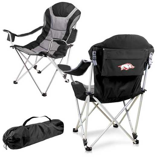 803-00-175-034-0: Arkansas Razorbacks - Reclining Camp Chair (Black)