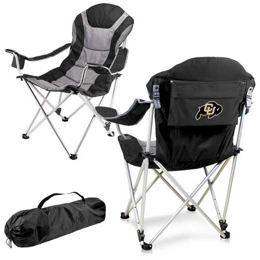 803-00-175-124-0: Colorado Buffaloes - Reclining Camp Chair (Black)