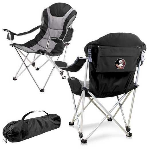 803-00-175-174-0: Florida State Seminoles - Reclining Camp Chair (Black)