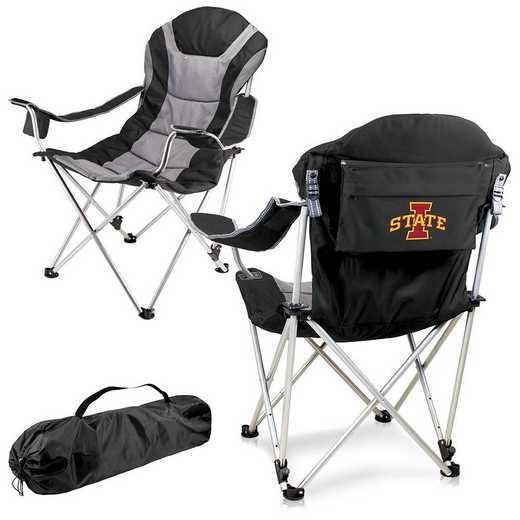 803-00-175-234-0: Iowa State Cyclones - Reclining Camp Chair (Black)