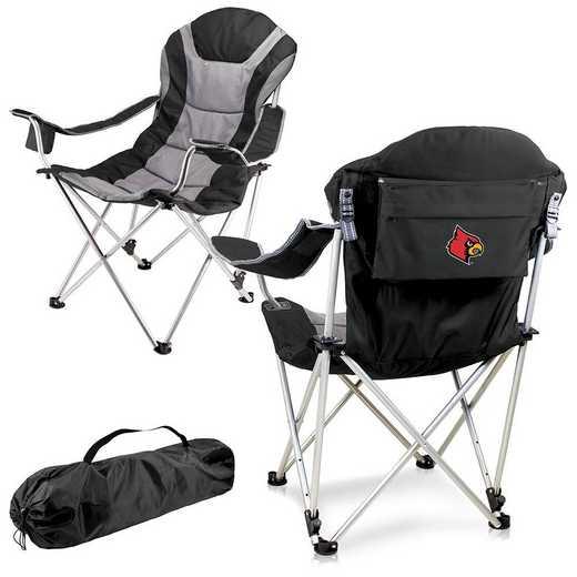 803-00-175-304-0: Louisville Cardinals - Reclining Camp Chair (Black)