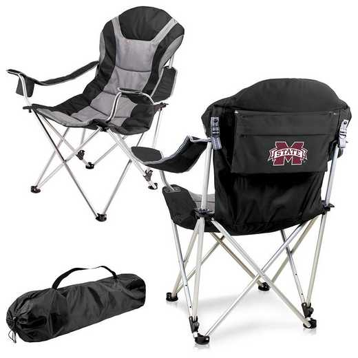 803-00-175-384-0: Mississippi State Bulldogs - Reclining Camp Chair (Black)