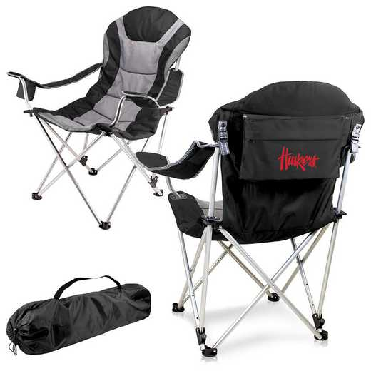 803-00-175-404-0: Nebraska Cornhuskers - Reclining Camp Chair (Black)