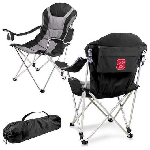 803-00-175-424-0: NC State Wolfpack - Reclining Camp Chair (Black)