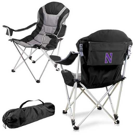 803-00-175-434-0: Northwestern Wildcats - Reclining Camp Chair (Black)
