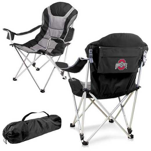 803-00-175-444-0: Ohio State Buckeyes - Reclining Camp Chair (Black)