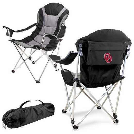 803-00-175-454-0: Oklahoma- Reclining Camp Chair (Black)