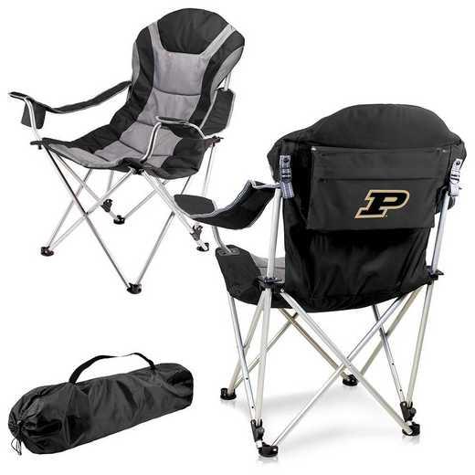 803-00-175-514-0: Purdue Boilermakers - Reclining Camp Chair (Black)