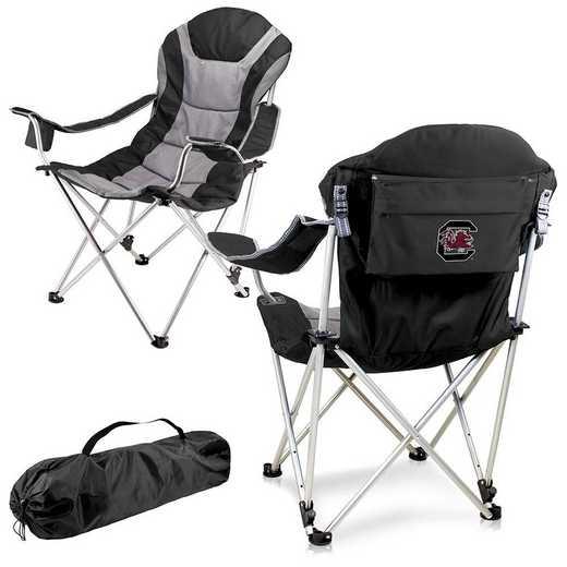 803-00-175-524-0: South Carolina Gamecocks - Reclining Camp Chair (Black)