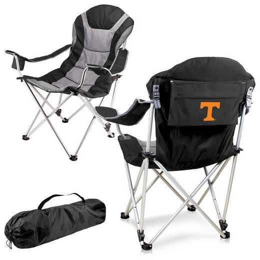 803-00-175-554-0: Tennessee Volunteers - Reclining Camp Chair (Black)