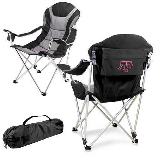 803-00-175-564-0: Texas A&M Aggies - Reclining Camp Chair (Black)