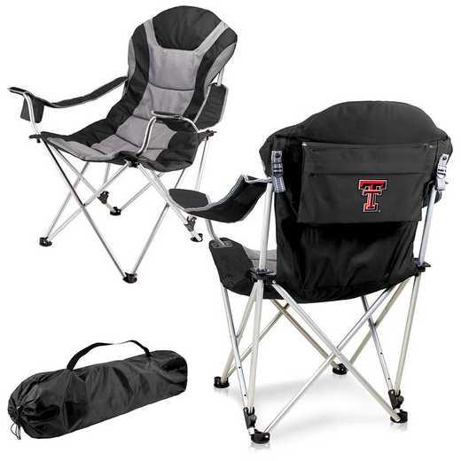 803-00-175-574-0: Texas Tech Red Raiders - Reclining Camp Chair (Black)