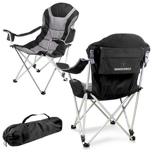 803-00-175-584-0: Vanderbilt Commodores - Reclining Camp Chair (Black)