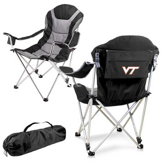 803-00-175-604-0: Virginia Tech Hokies - Reclining Camp Chair (Black)