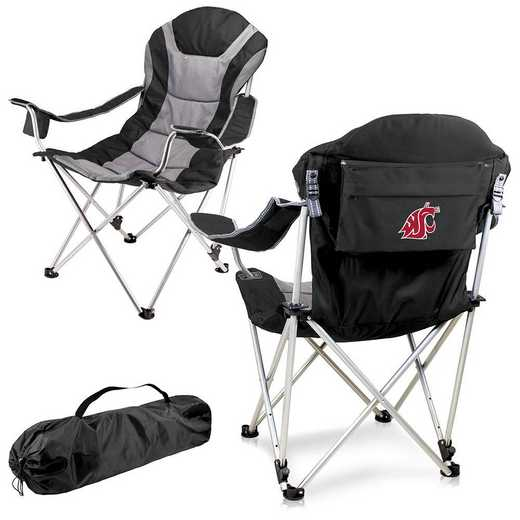 803-00-175-634-0: Washington State Cougars - Reclining Camp Chair (Black)