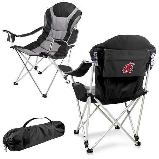 803-00-175-634-0: Washington State Cougars - Reclining Camp Chair (Black)