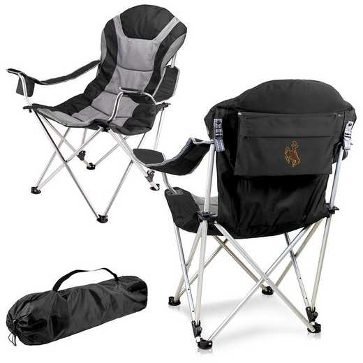 803-00-175-694-0: Wyoming Cowboys - Reclining Camp Chair (Black)