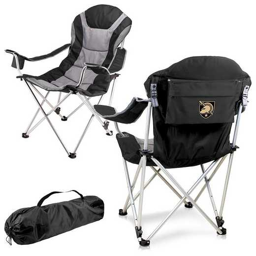 803-00-175-764-0: West Point Black Knights - Reclining Camp Chair (Black)
