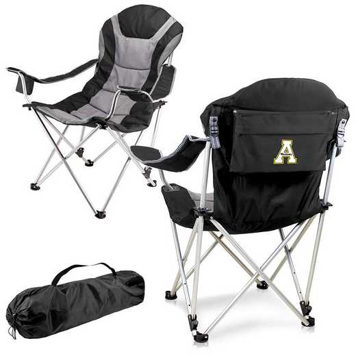 803-00-175-794-0: App State Mountaineers - Reclining Camp Chair (Black)