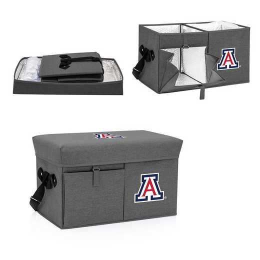 594-00-105-014-0: Arizona Wildcats - Ottoman Cooler & Seat (Grey)