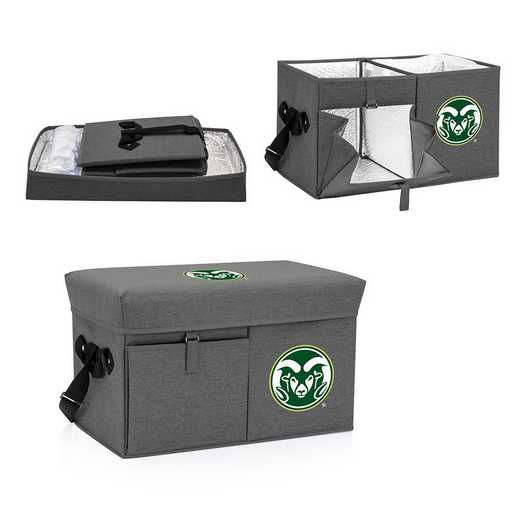 594-00-105-134-0: Colorado State Rams - Ottoman Cooler & Seat (Grey)