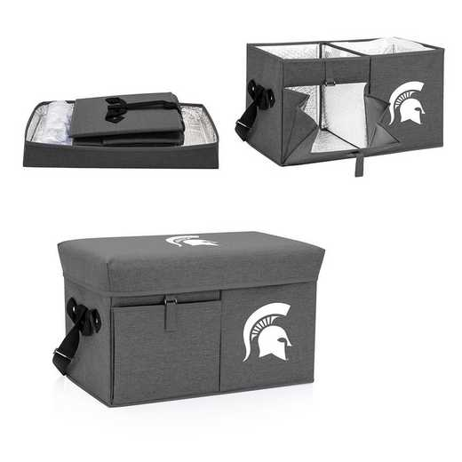 594-00-105-354-0: Michigan State Spartans - Ottoman Cooler & Seat (Grey)