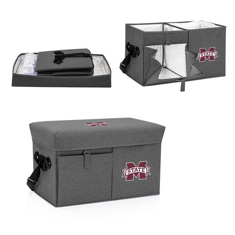 594-00-105-384-0: Mississippi State Bulldogs - Ottoman Cooler & Seat (Grey)