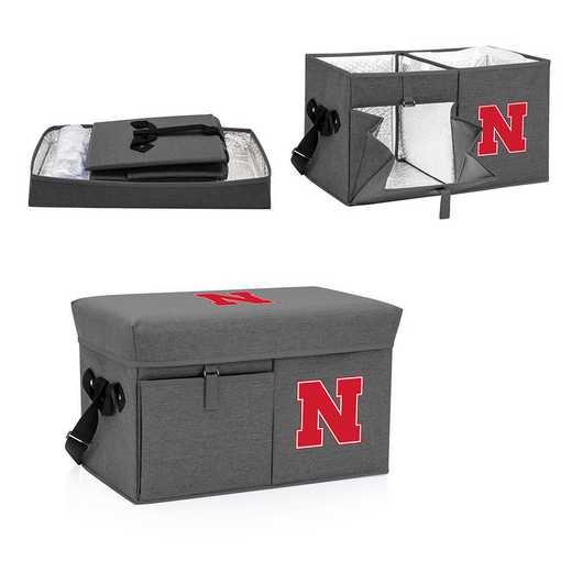 594-00-105-404-0: Nebraska Cornhuskers - Ottoman Cooler & Seat (Grey)