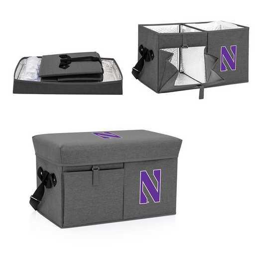 594-00-105-434-0: Northwestern Wildcats - Ottoman Cooler & Seat (Grey)